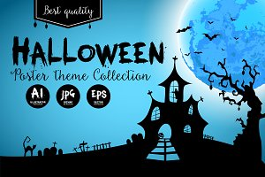 Halloween poster set #3