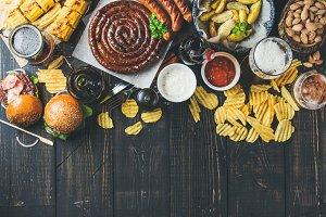 Oktoberfest food frame concept