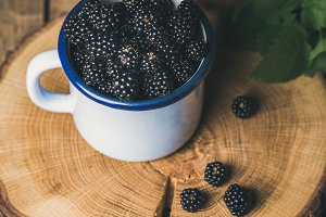 Fresh garden Blackberries