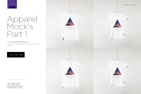 Men & Woman T-shirts Mock-up