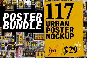 Urban Poster Mockup Bundle