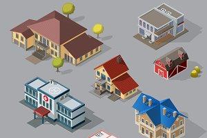 City Street Urban Buildings