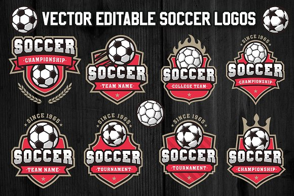 soccer and football logos 3 logo templates creative market