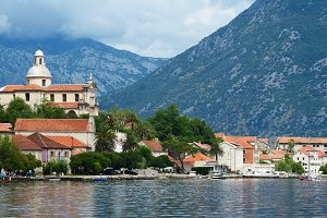 Small town Prcanj, Montenegro