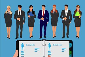 job hunter, human resources concept