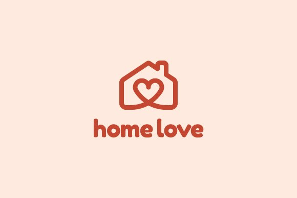 Home love logo logo templates creative market for Lovers home