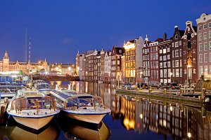 Night in City of Amsterdam