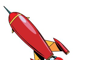 Retro rocket soars up