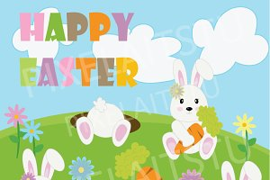 Happy Bunny Easter Clip Art
