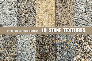 10 STONE  PEBBLE WALL TEXTURES