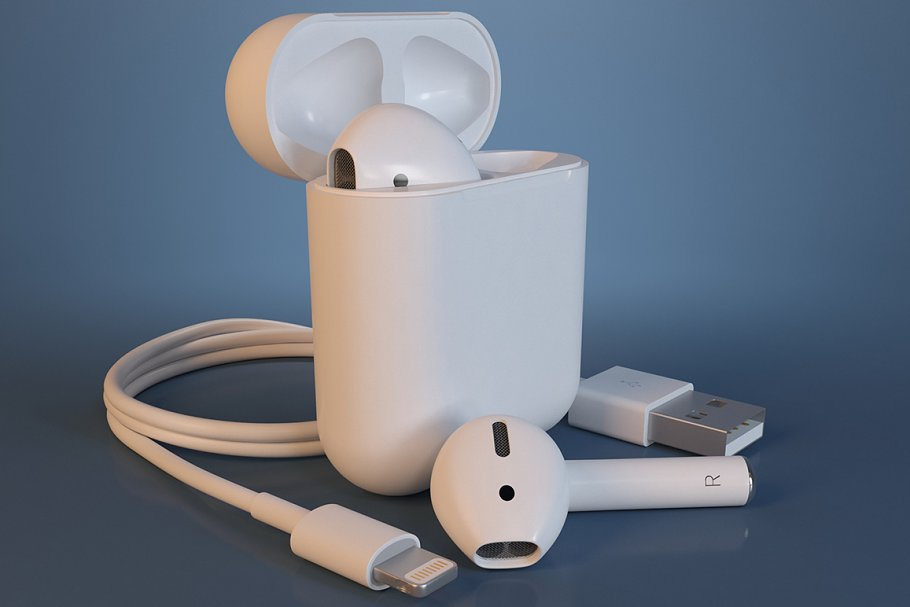 Apple Airpods 3d Print High Quality 3d Electronics Creative Market