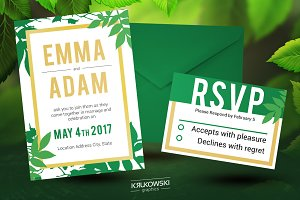 Natural Wedding Invitation Template