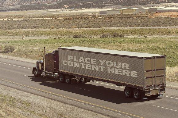Free Truck Trailer Mock-up#2