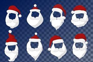 Santa Claus face cut mask vector
