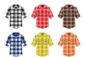 Hipster lumberjack shirt vector