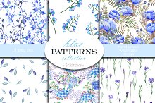 Blue Patterns collection