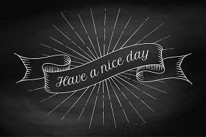 Have a nice day. Ribbon banner