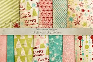 Let It Snow Digital Papers