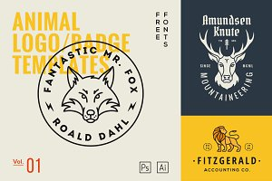 Animal Logo/Badge Templates Vol.1