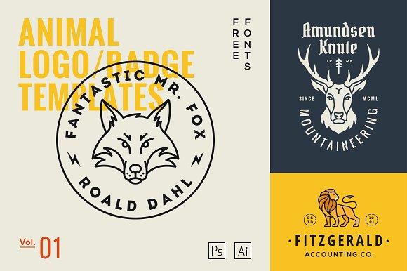 Animal Logo Badge Templates Vol1