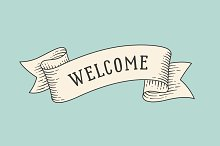 Welcome. Vintage ribbon