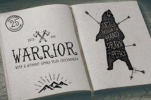Warrior - Hand Drawn Typeface