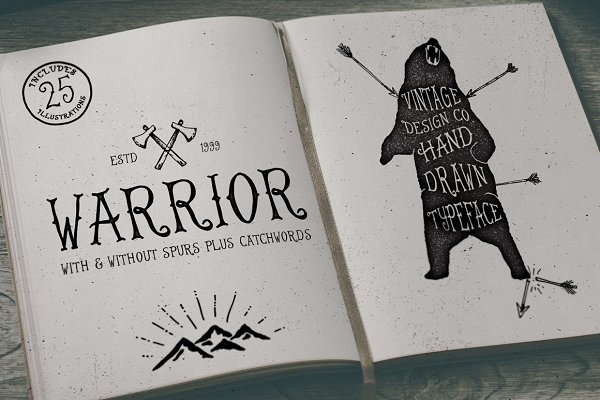 Warrior - Hand Drawn Typeface