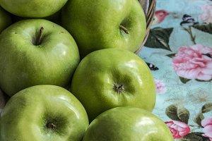 Basket of Granny Smith Apples