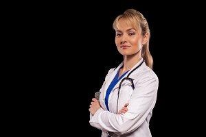 lady doctor with stathoscope