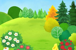 Fancy Plants Illustration