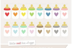 Heart Baby Bottle Clipart