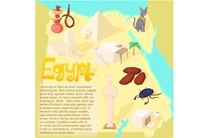 Design Egypt map travel