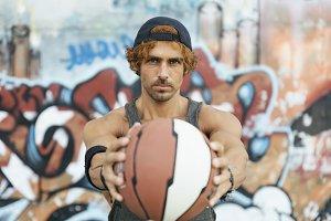 Portrait of Handsome Sport Man
