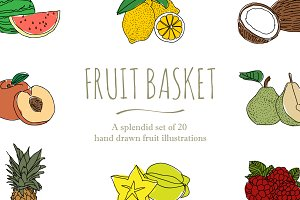 20 Hand Drawn Fruit Illustrations