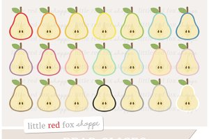 Pear Slice Clipart