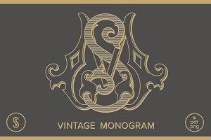 MS Monogram SM Monogram