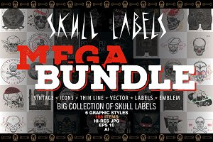 Skull Labels • MEGA BUNDLE • 90% OFF