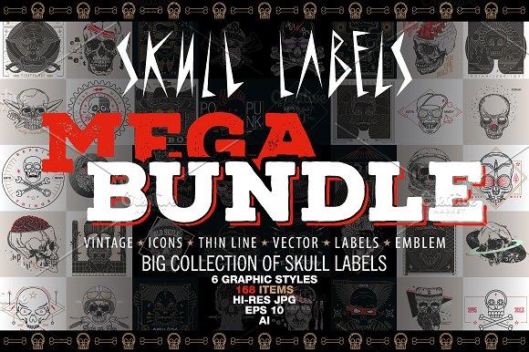 Skull Labels • MEGA BUNDLE • 90% OFF