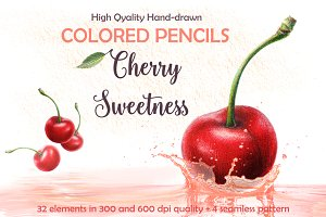 Colored Pencils Cherry Sweetness