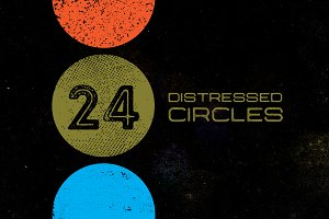 24 Distressed Circles