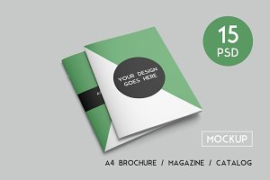 A4 Brochure / Magazine Mockups