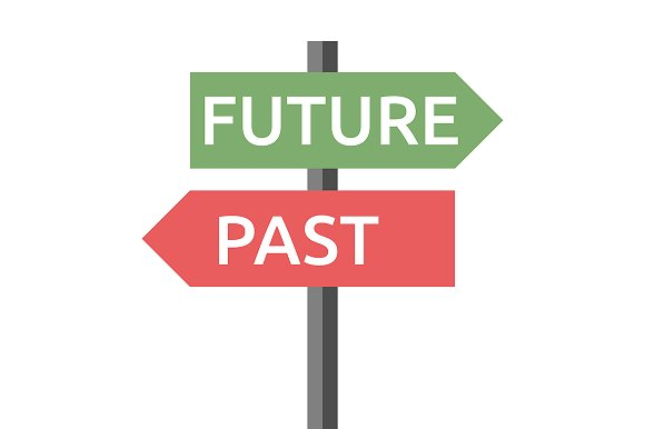 Past Future Sign Isolated