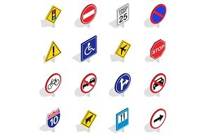 Road Sign icons set