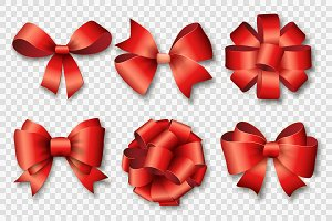 Ribbons set for Christmas vector