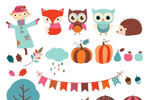Autumn clip art set