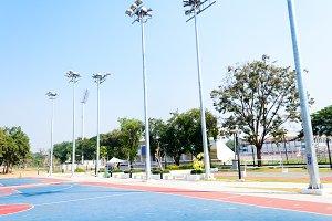 Outdoor basketball