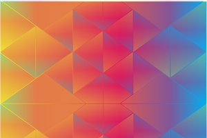 Abstract background triangle rainbow