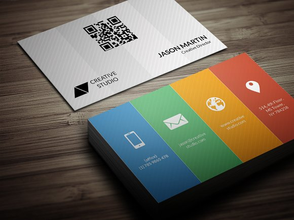 Metro color business card business card templates creative market colourmoves