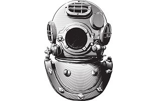 old diving helmet