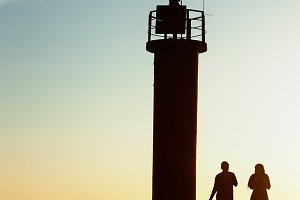 Lighthouse. Sunset.